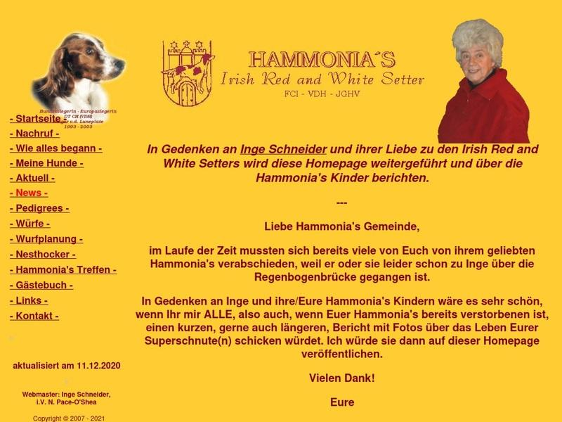 Screenshot von http://www.hammonias.de